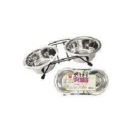 ペットのツイン食器 犬猫用 S[猫]/ユージーベットドットコム(UGペット.com)【猫 食器・キャットフード用品 食器】
